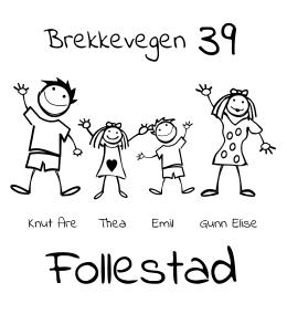 0932962e Foldal Stempel Designmal - Artig postkasseskilt. Rediger malen og lag  familiens helt personlige skilt.