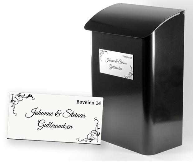Dejlig Skilt til vanlige postkasser - Foldal Stempel AS FA-51